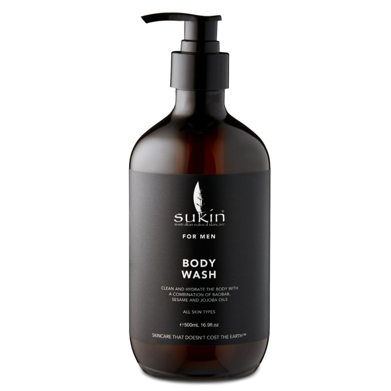 Buy Sukin For Men Body Wash 500ml - x 2 - Made in Australia with Natural Component of Essential Oil Singapore