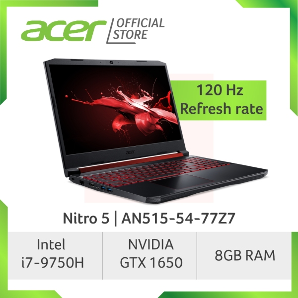 [READY STOCKS] Acer Nitro 5 AN515-54-77Z7 gaming laptop with NVIDIA GeForce GTX 1650 Graphics and 120Hz Refresh Rate