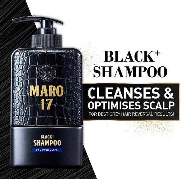Buy MARO 17 Black + Shampoo 350ml (Promote Hair Growth, Prevent, Delay and Reverse hair greying) Singapore