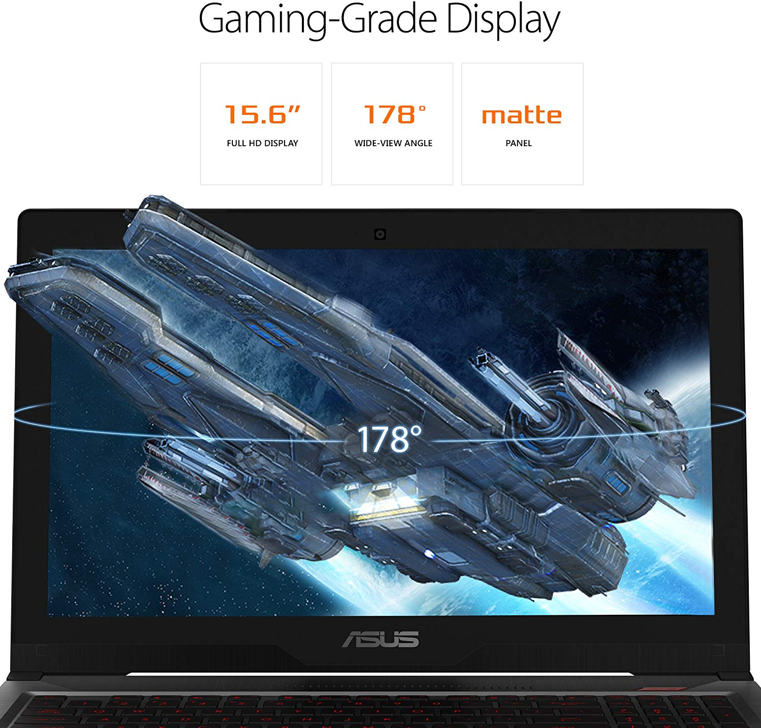 "ASUS FX503VM 15.6"" Full HD Powerful Gaming Laptop, Intel Core i7-7700HQ Quad-Core 2.8GHz Processor, GTX 1060, 128GB M.2 SSD + 1TB HDD, 16GB DDR4 RAM, Windows 10 Home"