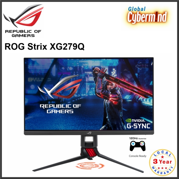 ASUS ROG Strix XG279Q 27 WQHD Fast IPS HDR Gaming Monitor with 170Hz (Brought to you by Global Cybermind)