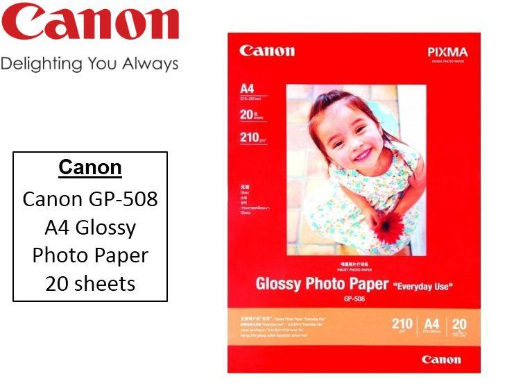 Canon Gp-508 A4 Glossy Photo Paper (20 Sheets).