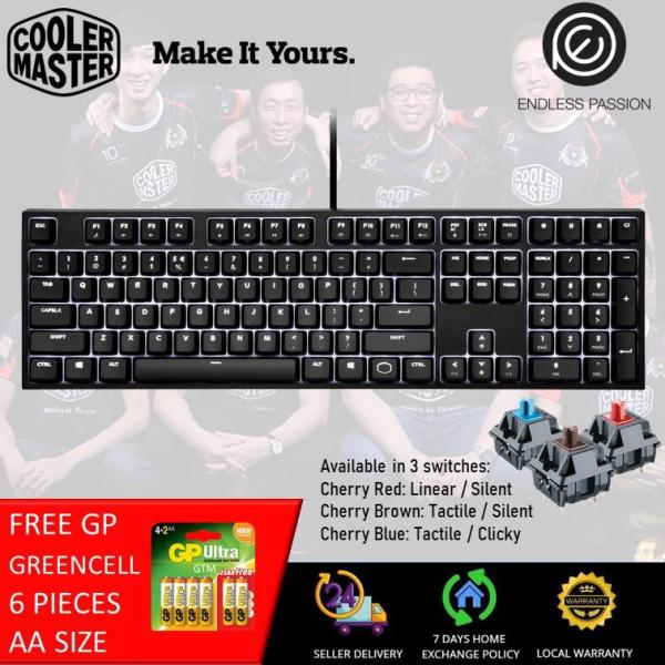 Cooler Master CK320 White LED Cherry MX Gaming Keyboard - MX Cherry Red/Brown/Blue [24 hours delivery] Singapore