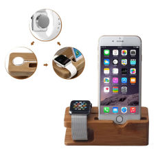 The Cheapest Bamboo Charging Dock Station Holder Stand For Apple Watch Iwatch Iphone6 Online