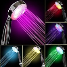 Best Offer Bathroom Showerheads Led Multicolor 7 Colors Water Glow Light Shower Head