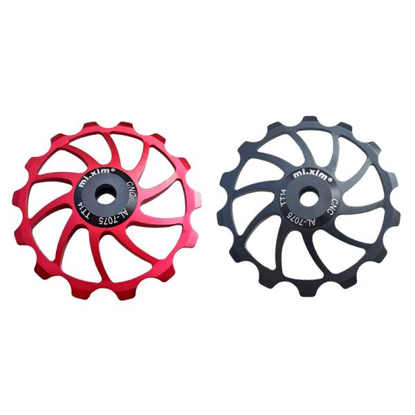 Mua 2x Mi.Xim MTB Road Bike Ceramic Pulley 14T Rear Derailleur Bearing Jockey Wheel Bike Guide Roller Red & Black