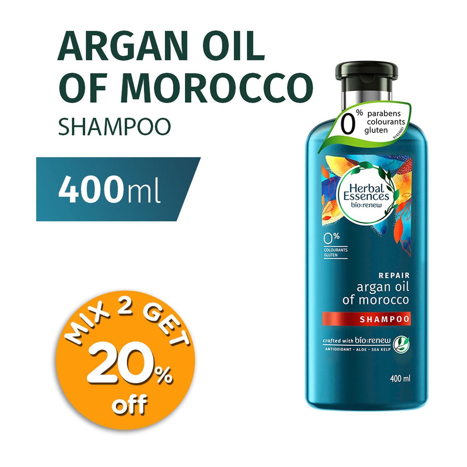 HERBAL ESSENCES herbal essences repair argan oil of morocco shampoo 400ml