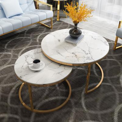 Natural Marble Coffee Tea Table Living Room Simple Modern Premium Nordic Design