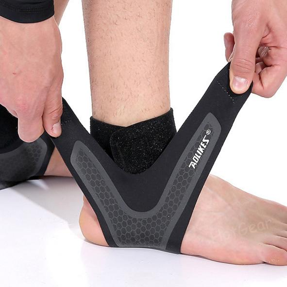 d2deb16ffe Ultra Thin Ankle Support Adjustable Breathable Aolikes Ankle Wrap Strap  Stabilizer Brace Guard (1 Piece