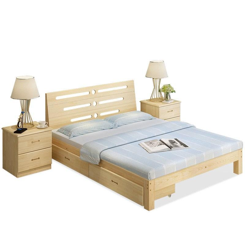 Queen Size Bed - Storage / Solid Wood /  Durable Supporting - Free Installation