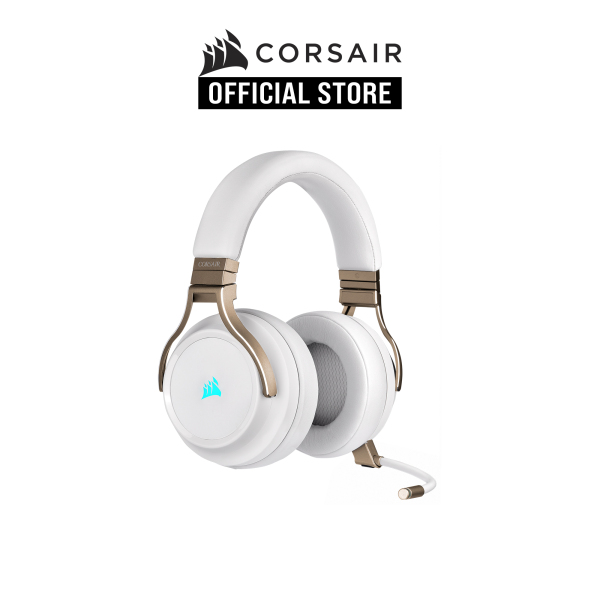 CORSAIR VIRTUOSO RGB WIRELESS High-Fidelity Gaming Headset — Pearl