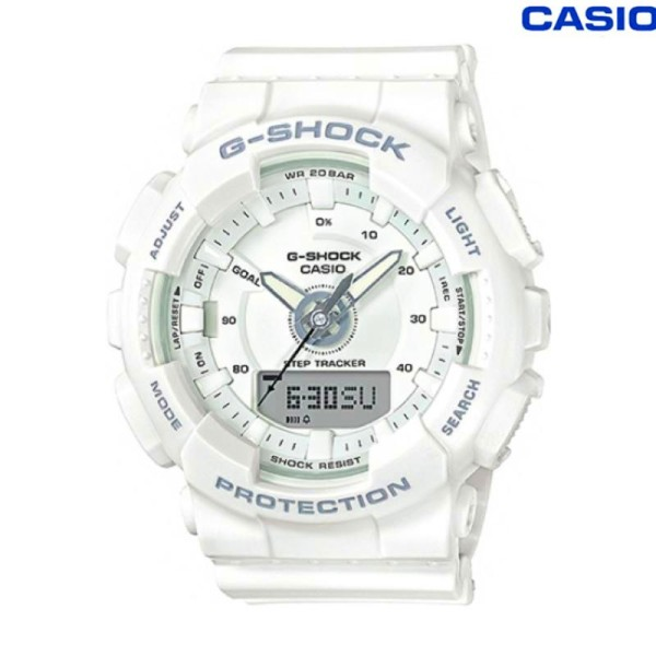 [In stock] G-Shock S Series For Women Step Tracker White Resin Band Watch GMAS130-7A GMA-S130-7A Malaysia
