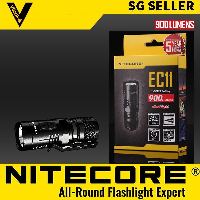NITECORE EC11 Led Flashlight Military Grade Waterproof Outdoor Survival Game 900 LUMENS