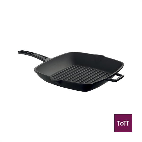 Lava Cast Iron 26x32cm Rect Grill Pan Black Singapore