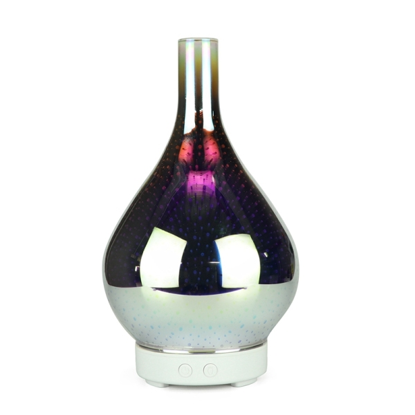 3D Firework Glass Vase Shape Air Humidifier with 7 Color Led Night Light Aroma Essential Oil Diffuser Mist Maker Ultrasonic Humidifier Singapore
