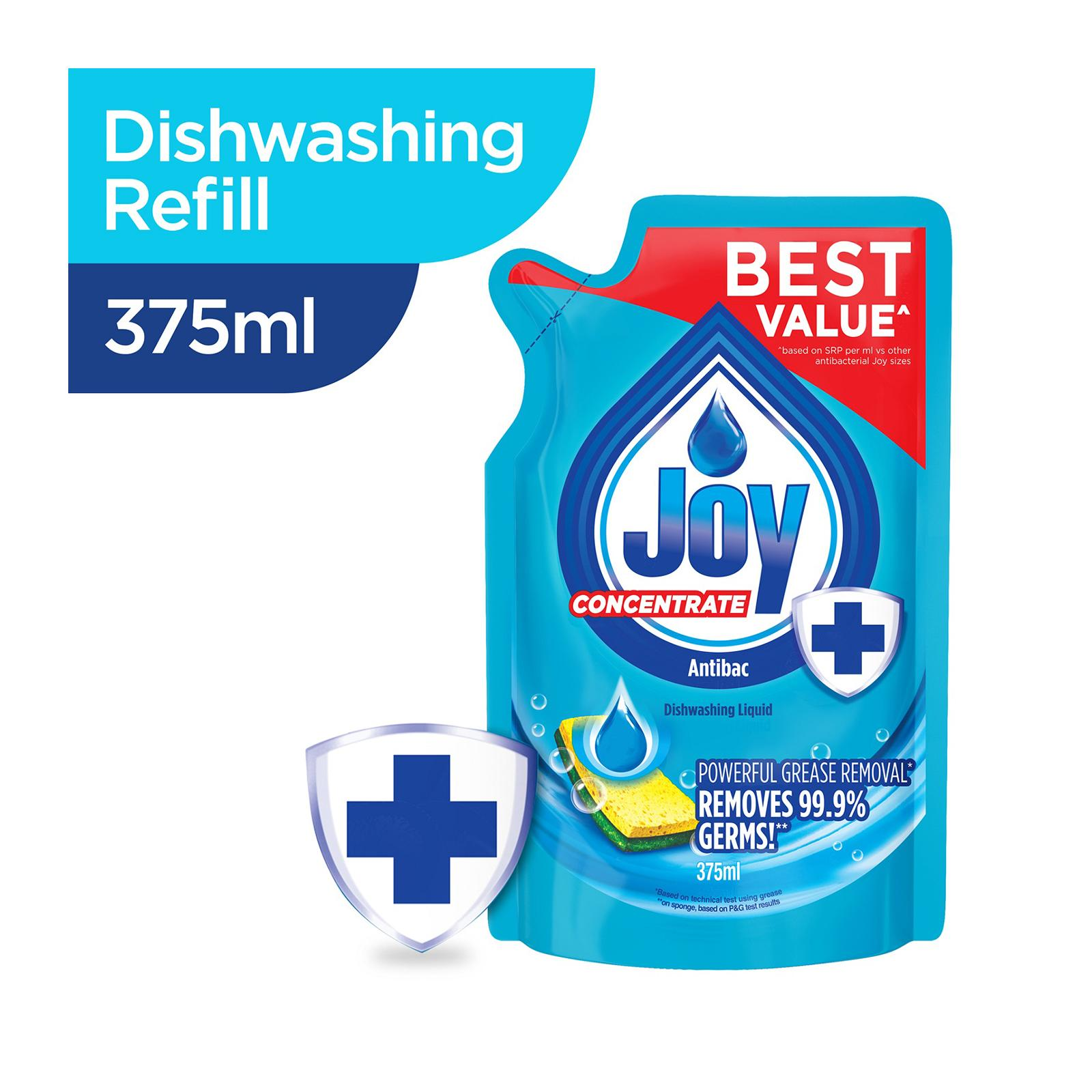 Joy Concentrate Antibac Dishwashing Liquid Refill 375 ML