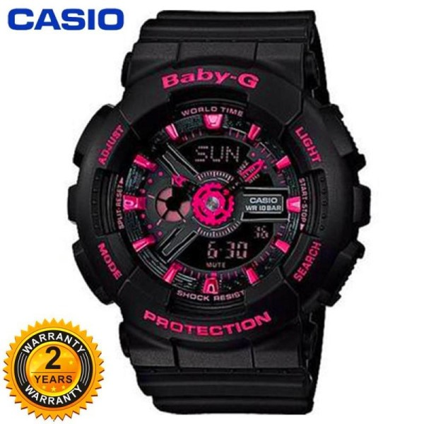 (Free Shipping) Original BABY G BA110 Men Sport Watch Duo W/Time 200M Water Resistant Shockproof and Waterproof World Time LED Auto Light Wrist Sports Watches with 2 Year Warranty BA110 /BA-110 Malaysia