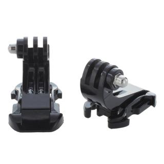 2x Black Vertical Surface J-Hook Buckle Mount For Gopro HD Hero 1 2 3 thumbnail