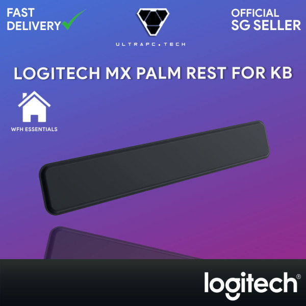 Logitech MX Palm Rest for MX Keys Premium, No-Slip Support for Hours of Comfortable Typing, Black 993-001712