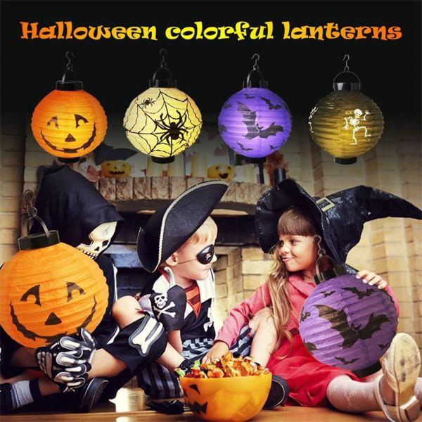 Bảng giá TIH3PD Thùng Rác Có Đèn LED , Hộp Sọ Bí Ngô Trang Trí Halloween Trong Vườn Lồng Đèn Giấy Đèn Treo Tường Đèn Lồng Kinh Dị Đồ Dùng Cho Bữa Tiệc Halloween