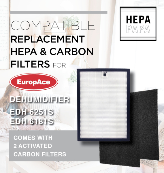 Europace EDH6251S Europace EDH6181S Compatible Replacement Filters [HEPAPAPA] Singapore