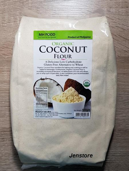 Organic Coconut Flour Gluten Free Low Carbohydrate Keto Diet 500g By Jenstore.