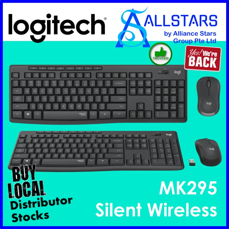 (ALLSTARS : We are Back / PROMO) Logitech MK295 Silent Wireless Combo Keyboard and Mouse (920-009814) (Warranty 2years with BanLeong) Singapore