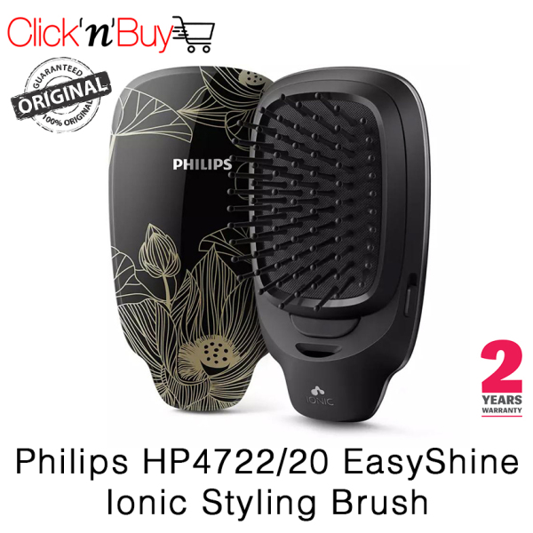Buy Philips HP4722/20 EasyShine Ionic Styling Brush. Ionic Conditioning. Seamless Bristle Tips. Ergonomic Design. 2 Year Warranty. Singapore