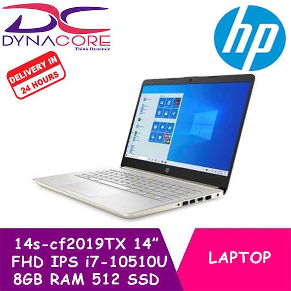 ** Delivery within 24 Hours - DYNACORE - HP Laptop / Notebook 14s-cf2019TX | 14 Inch FHD IPS | i7-10510U | 8GB DDR4 RAM | 512GB PCIe SSD | AMD R530 2GB | Win10 | 2Year HP Onsite Warranty | 1.4Kg Slim n Light
