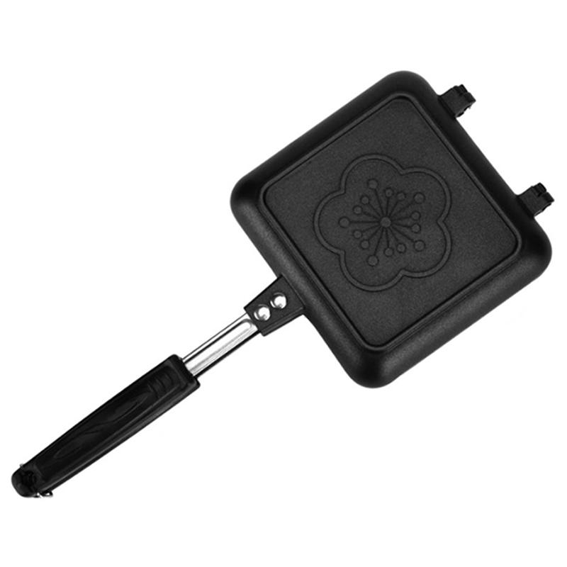 Double-Side Non-Stick Sandwich Maker Bread Toast Breakfast Machine Pancake Baking Barbecue Oven Mold Grill Frying Pan