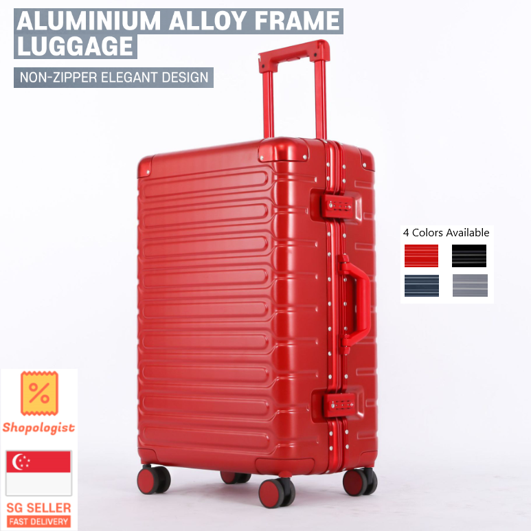 scratch resistant and wearable texture student large capacity personalized trolley case two sizes av 5 colors DR Suitcases Aluminum alloy luggage box universal wheel password suitcase waterproof