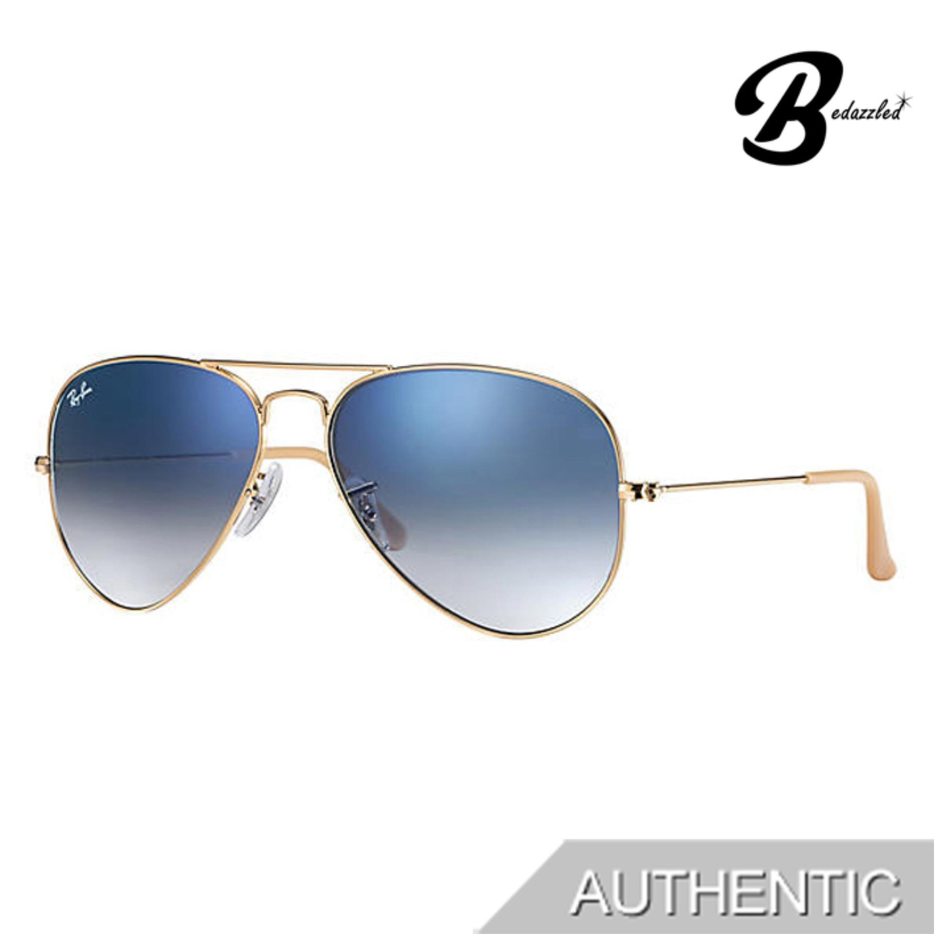 Ray-Ban Aviator Gradient Rb3025001/3f58 By Bedazzled.