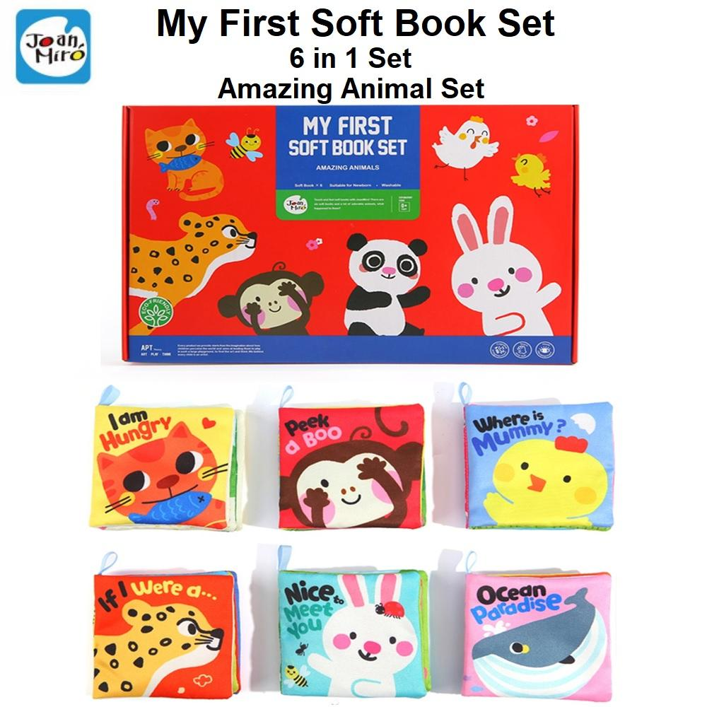 Joan Miro My First Soft Book Set Suitable for Newborn 6 in 1 Set Ámazing Animal