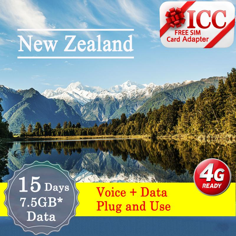 Icc【new Zealand Sim Card·15 Days】unlimited Data By Icc.