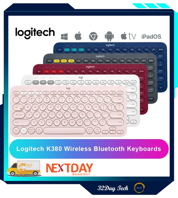 Logitech K380 Slim Multi-Device Bluetooth Keyboard (Windows, Mac, Chrome, Android, IOS,Apple TV 2nd or 3rd generation) with Logitech FLOW Technology Singapore