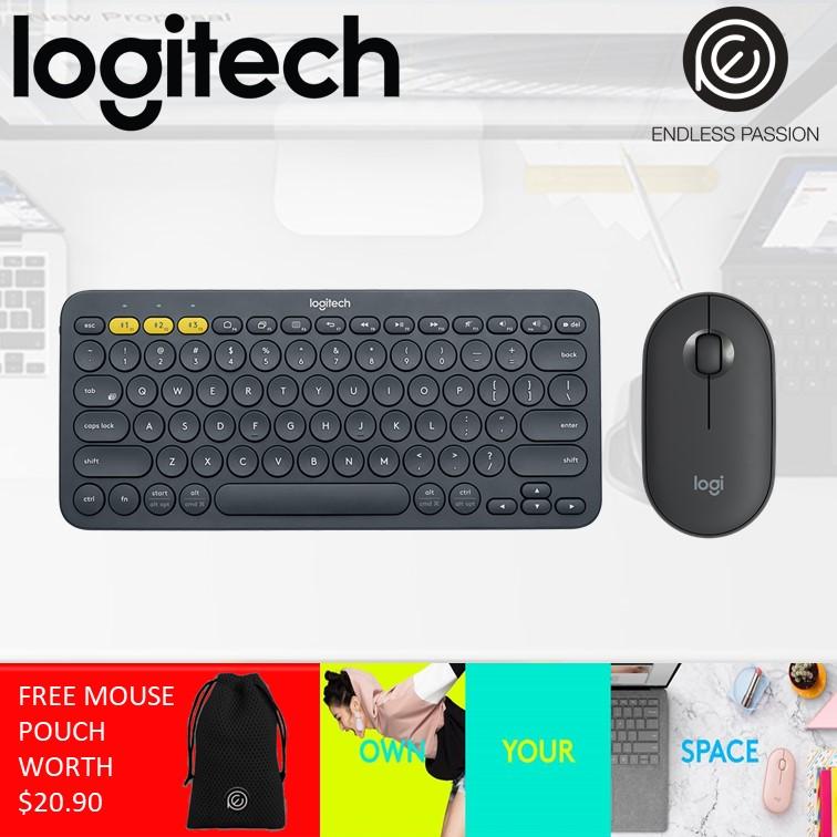 Logitech K380 Bluetooth Keyboard and M350 Pebble Mouse Bundle