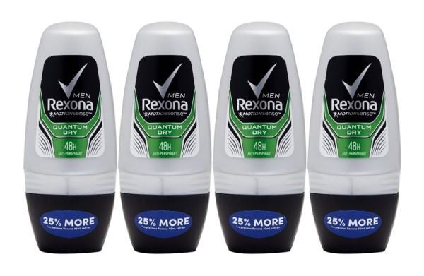Buy REXONA (Bundle of 4) Deodorant Roll-on [Men Quantum Dry 50ml] Singapore