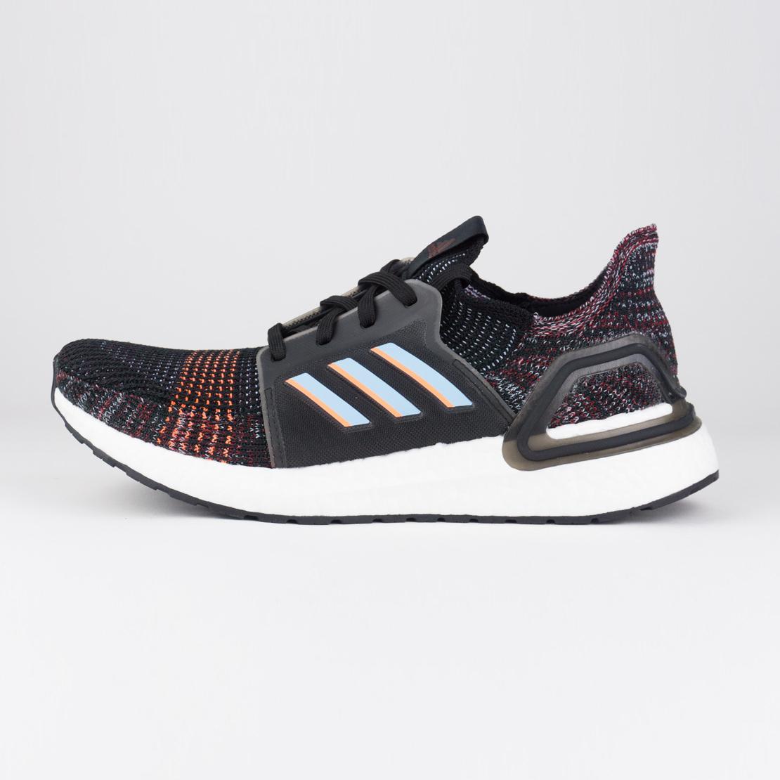 Adidas Ultraboost 19 - Men Shoes (core Black / Glow Blue) G54011.