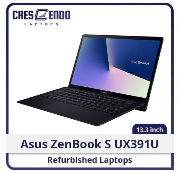 (Refurbished Laptop) Asus ZenBook S UX391U i7-8550u/16GB/256SSD/Webcam/Touch/Win10/1M Warranty