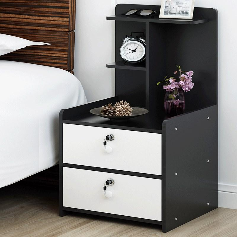 Simple Modern Bedside table with lock and drawer
