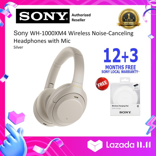 Sony Singapore WH-1000XM4/ WH1000XM4 Wireless Noise Cancelling Headphones (15 Months Warranty) Free Sony Wireless Pad SOCPWP1W Singapore
