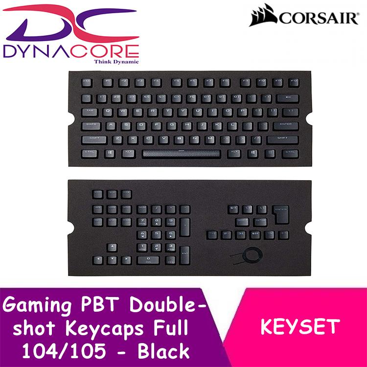 DYNACORE - Corsair Gaming PBT Double-shot Keycaps Full 104/105-Keyset - Black Singapore