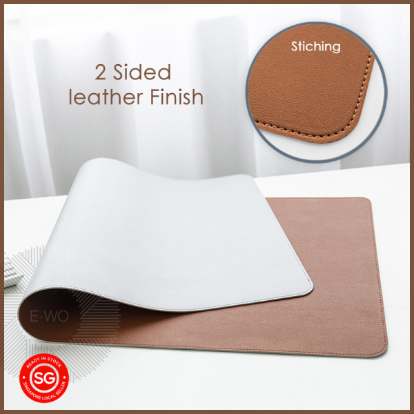 Double Sided PU Large Leather Mouse Pad, Office Desk Mat, Computer Table Cushion, Varies color and size up to 1.2m, Local delivery