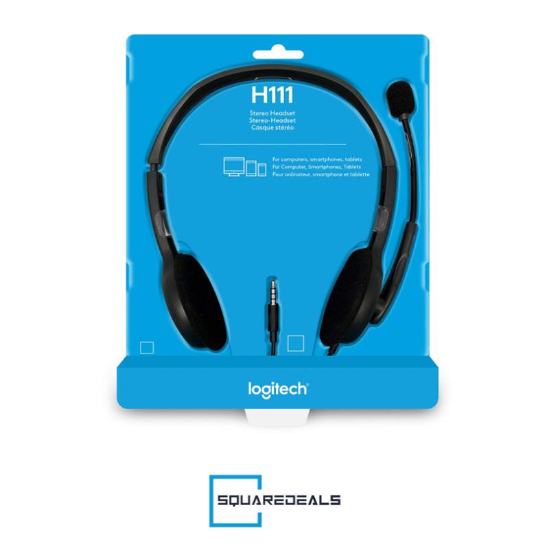 Logitech H111 Stereo Computer Headset 3.5mm Multi Device Headset Singapore