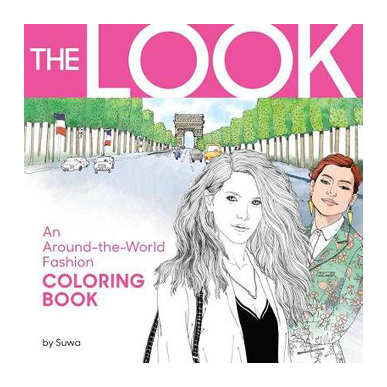 The Look: An Around-The-World Fashion Coloring Book (Paperback)