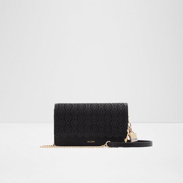 Aldo Women Schoolsout Handbag Clutch Magnetic Snap Closure Zip Compartment Chain Strap