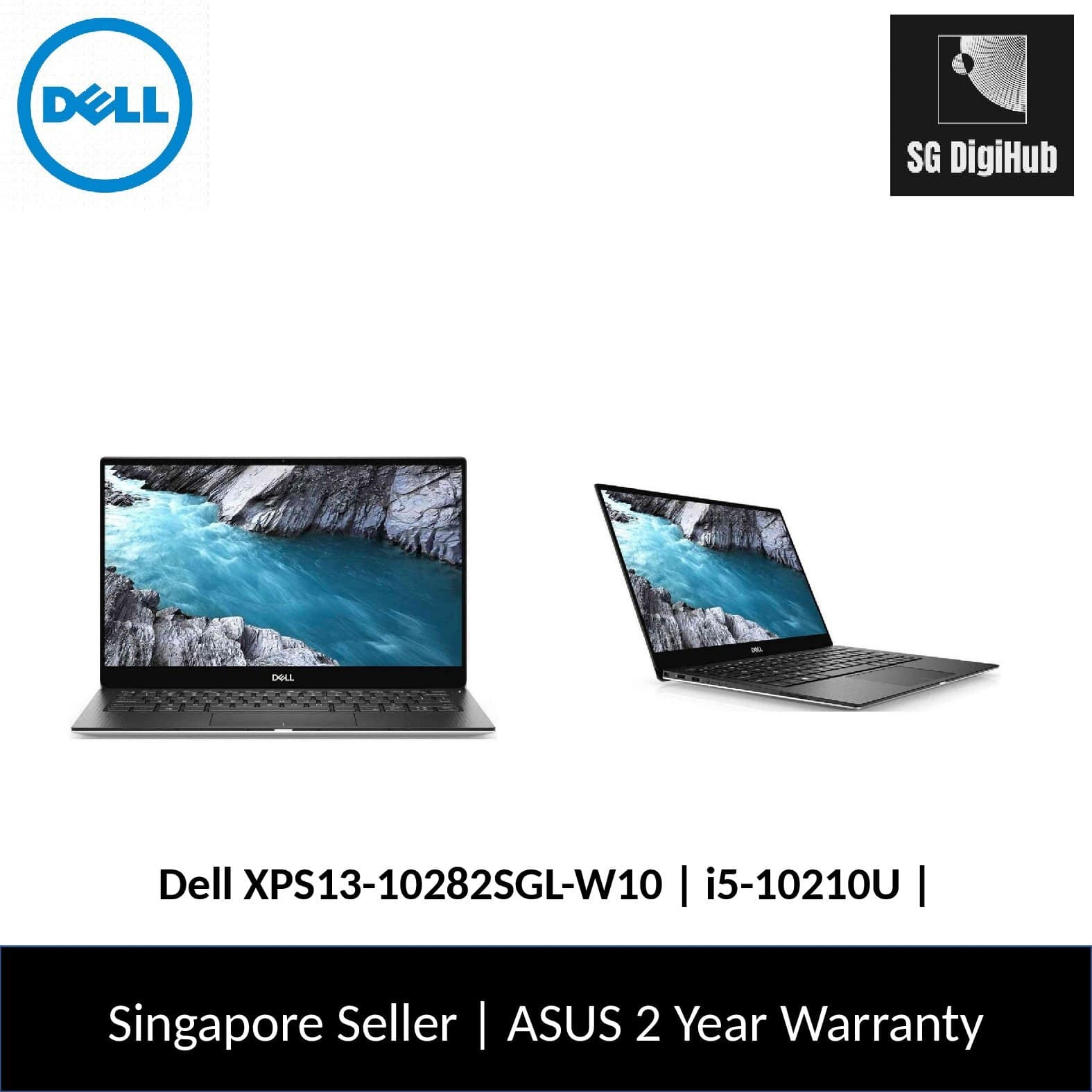 Dell XPS13-10282SGL-W10 | i5-10210U | 8GB RAM | 256GB SSD | Intel UHD 620 | 2Y Warranty