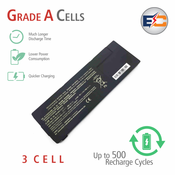 Replacement Laptop Grade A Cells Battery BPS24-QJ-3S1P Compatible with Sony Vaio SA, Vaio SB, Vaio SC, Vaio SD, Vaio SE, Vaio VPCSA, Vaio VPCSB