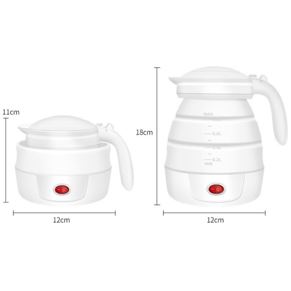 Electric Kettle Folding Water Kettle Portable Smart Flask Pot Auto Power-Off Protection 0.8L Kettle Teapot Home Travel Camping Kettle EU Plug