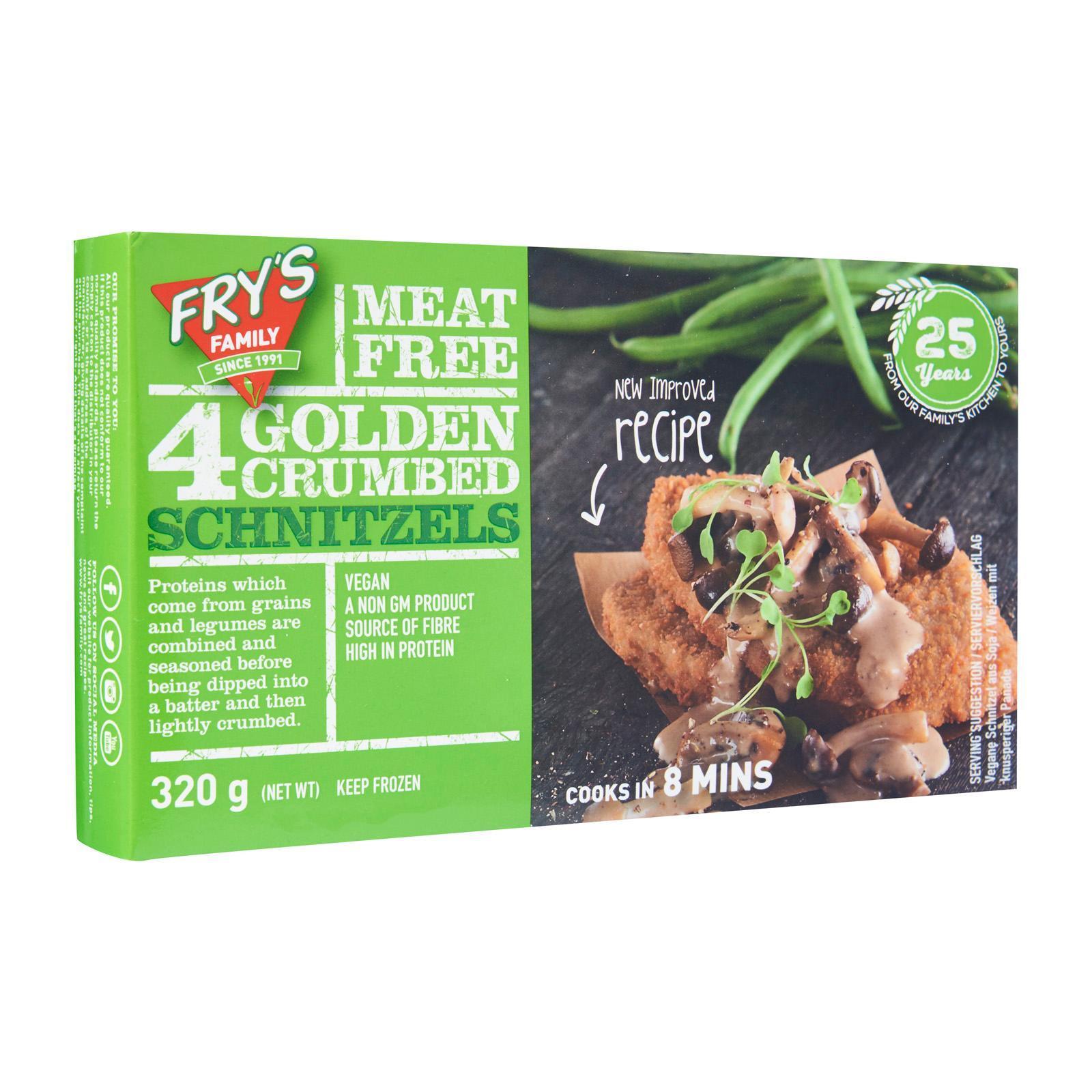Frys Meat Free Crumbed Schnitzel - Frozen By Redmart.